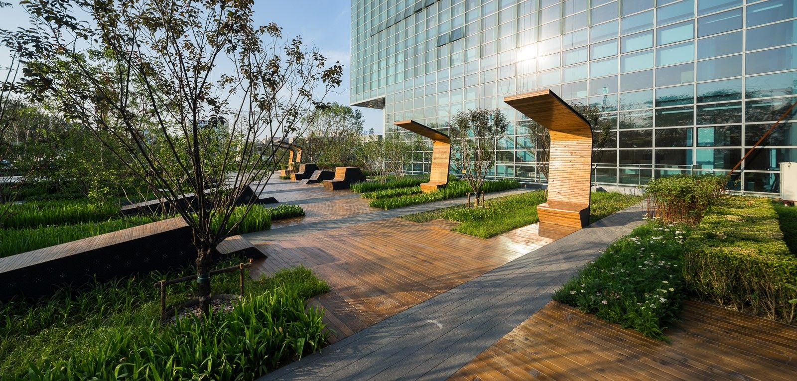 Beiqijia technology business district donatilar for Grid landscape design