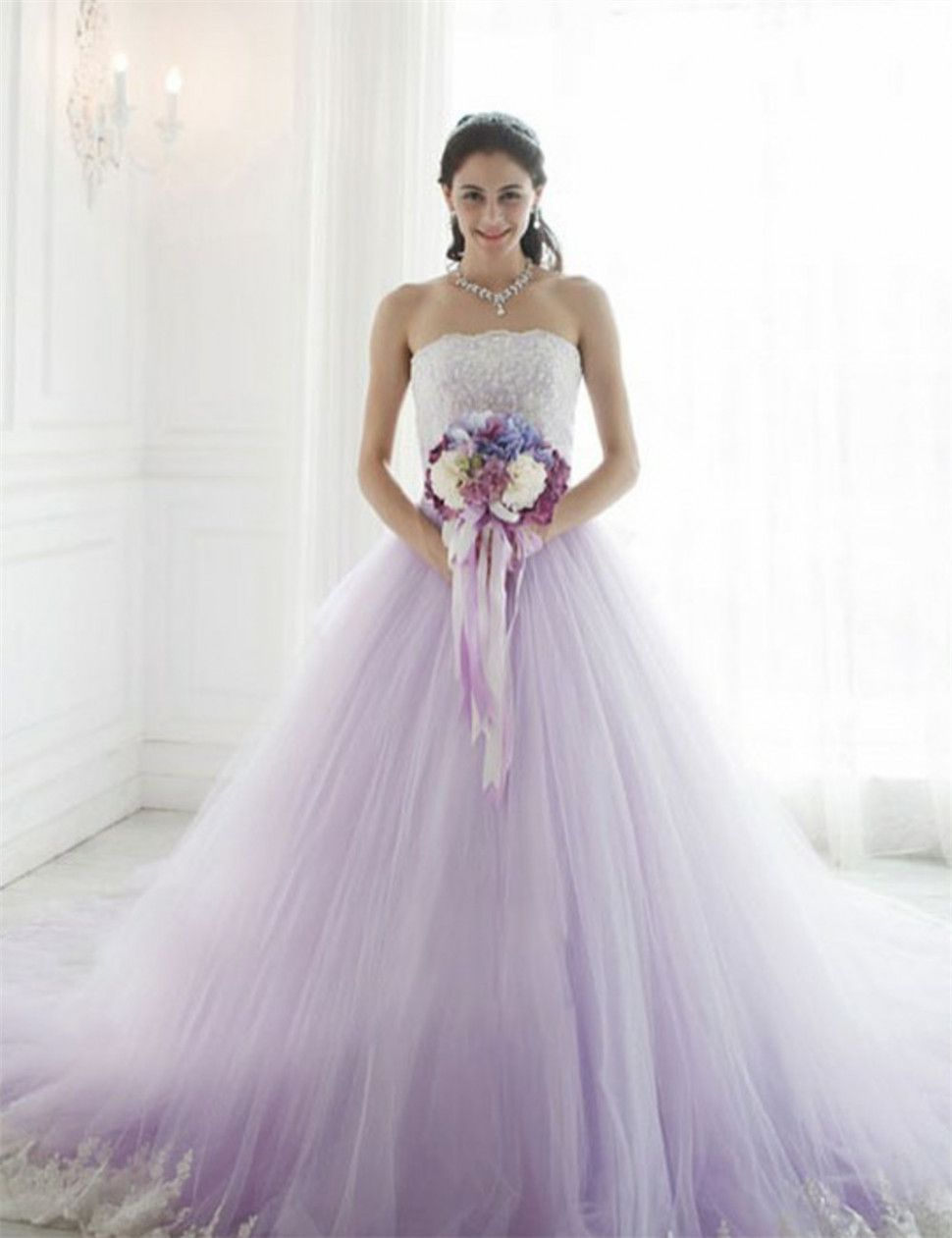 Purple Lace Wedding Dress Wedding Ideas Purplewedding Gowndressideas Purple Wedding Gown Purple Wedding Dress Colored Wedding Dresses [ 1261 x 970 Pixel ]