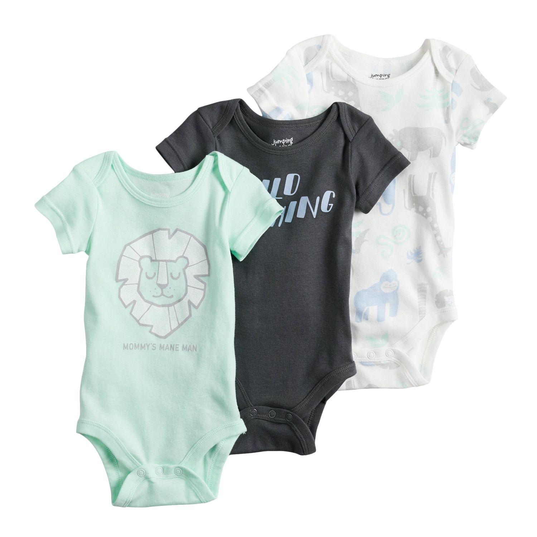 18b2297f9 Baby Boy Jumping Beans  3-pk. Print Bodysuits