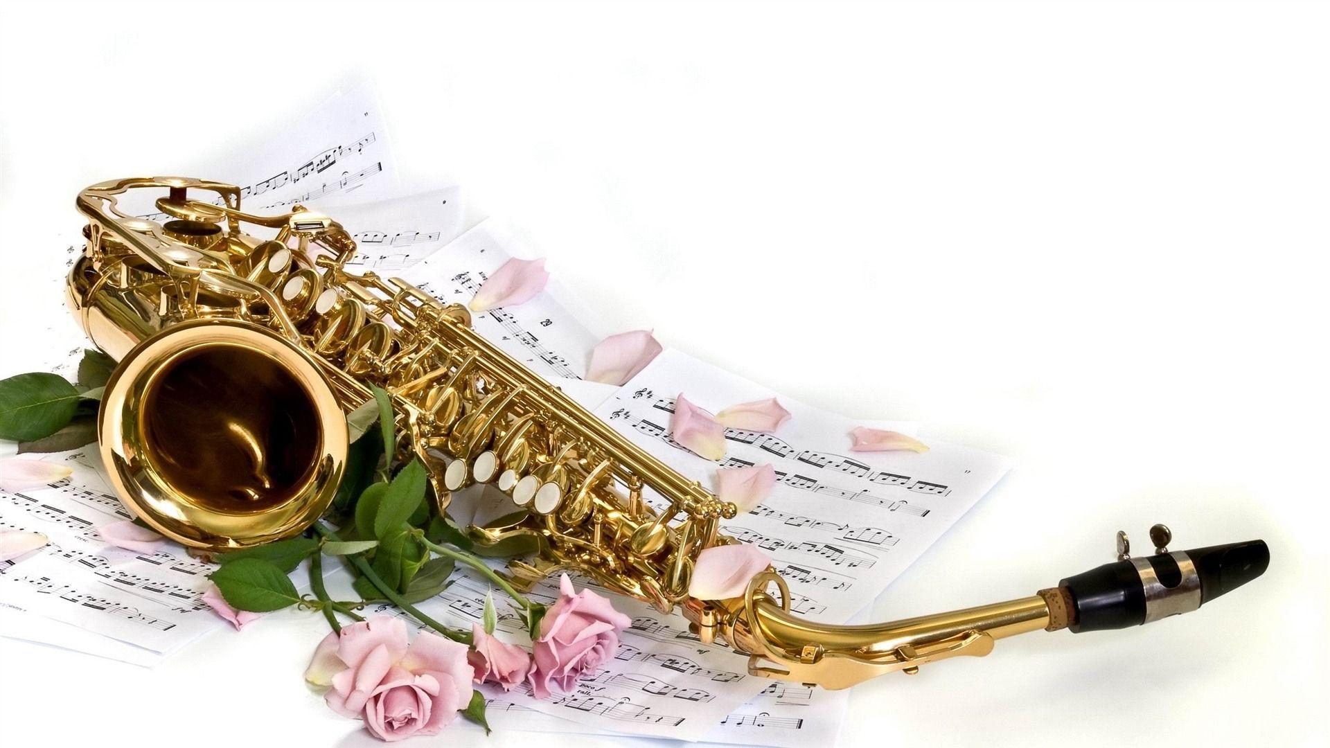 Saxophone Background Stock Image - Image: 4221901