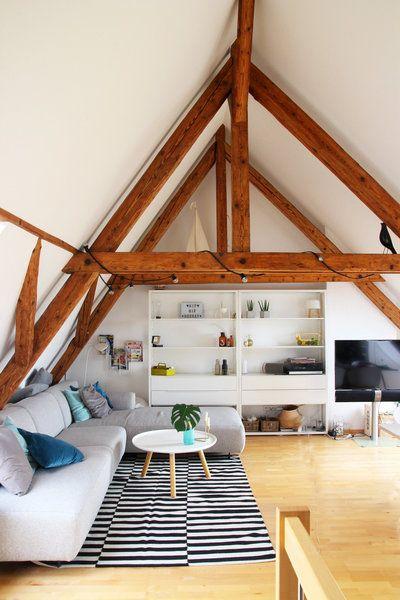 dachschrägen einrichten – tipps und ideen  dachschräge