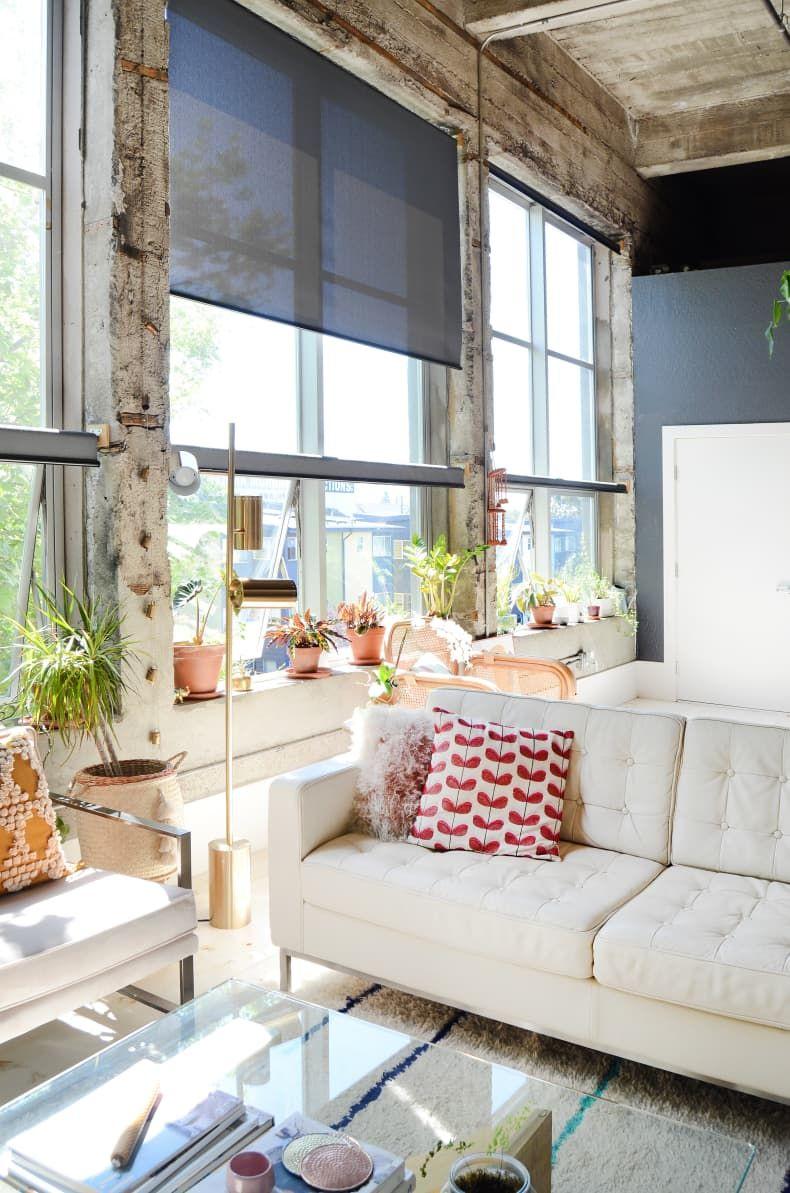 A Renter Found This Gorgeous Modern Loft In A Former Elementary School On Craigslist Modern Loft Dark Living Rooms Home