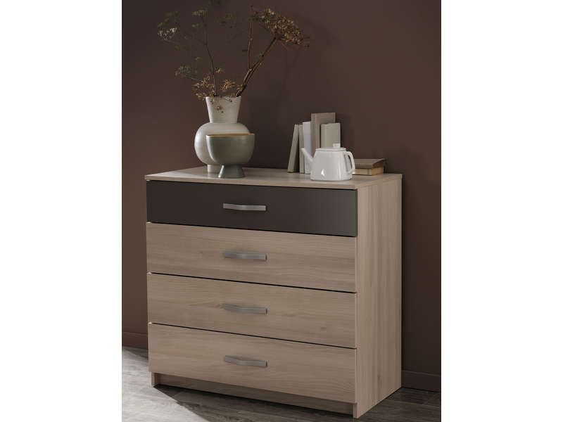 commode tiroirs graphic coloris acacia vente de mrg conforama
