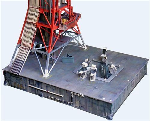 1:70 Escala Lançamento de Apollo Umbilical Tower (LUT) Kit Modelo para Apogee ou qualquer 1:70 Saturn V w / LUT