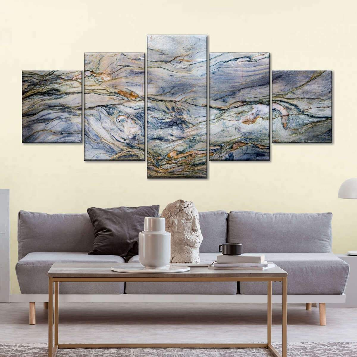 Marble Texture Multi Panel Canvas Wall Art #marbletexture