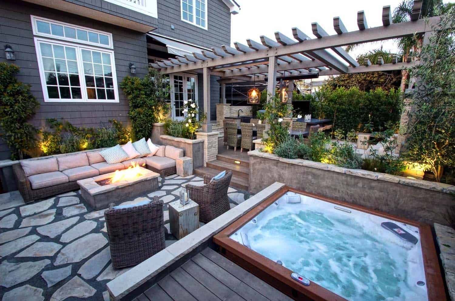40 Outstanding Hot Tub Ideas To Create A Backyard Oasis Hot Tub