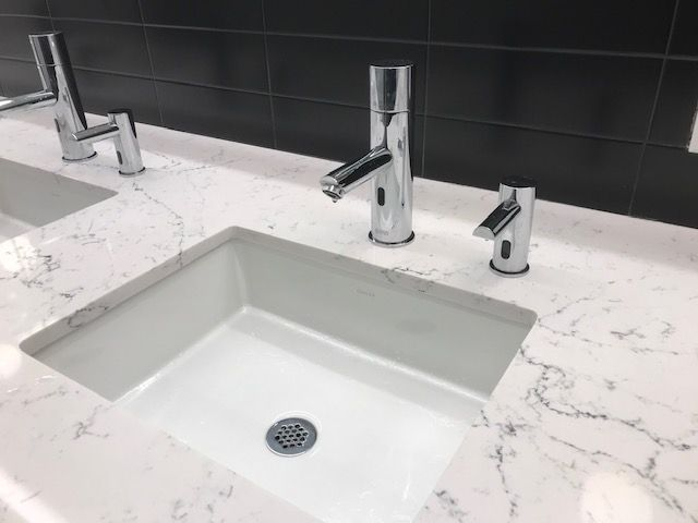 Stern's Trendy touch free duo electronic faucets and
