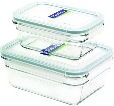 Glasslock Food Storage Container Sets Amusing Glasslock Rectangle 4Piece Container Set  Top 20 Best Glass Food Design Ideas
