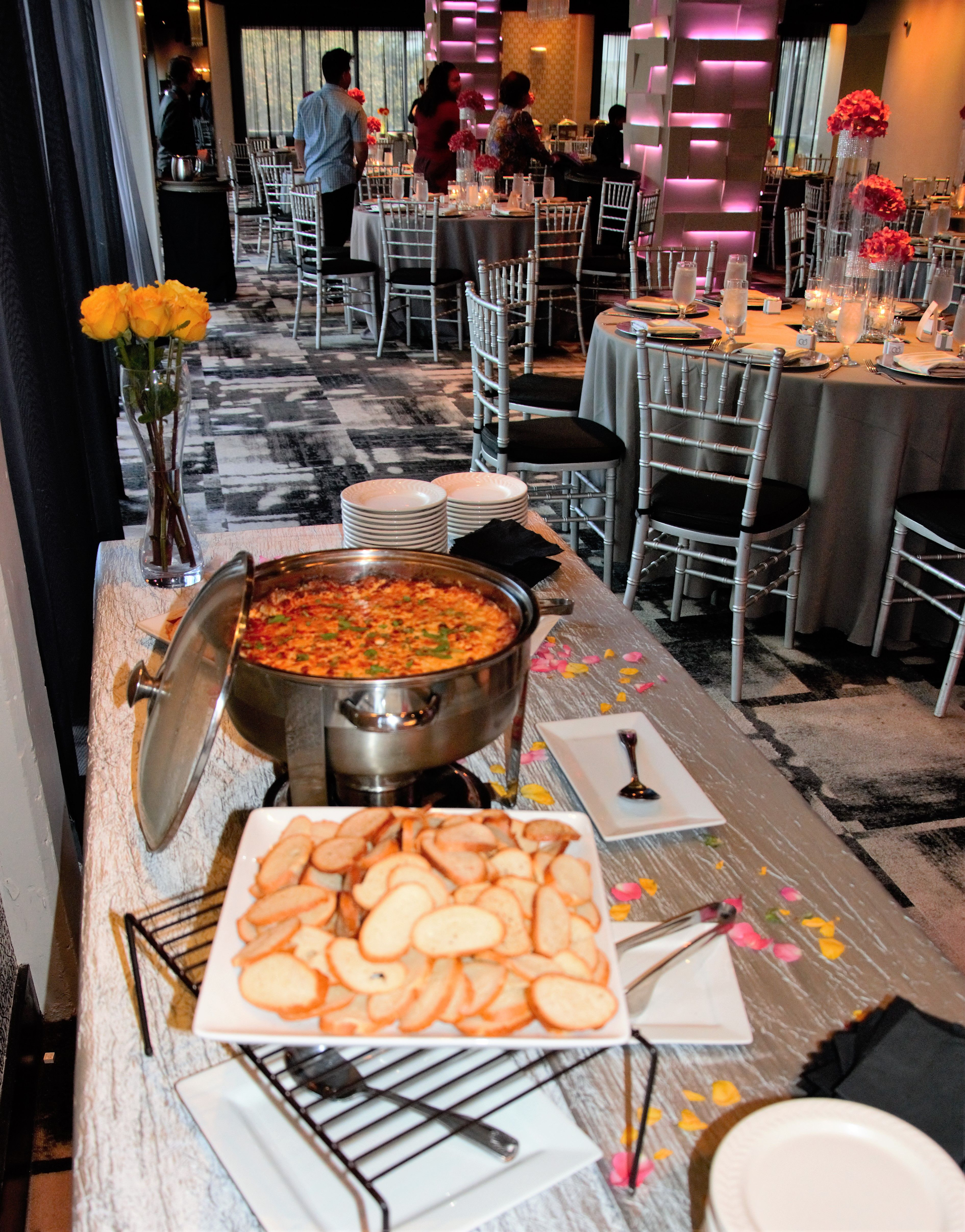 Wedding And Reception Of Chiara Lazarus Chris Hunter September 17 2017 At The Mezz Downtown Orlando Plus Catering Orla With Images Orlando Wedding Catering Orlando