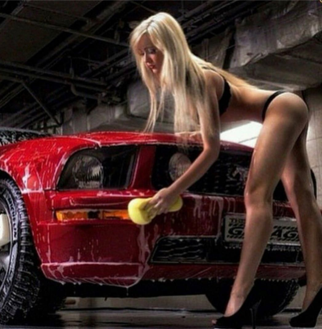 Warm Nudes Girls In Ford Mustang Pic