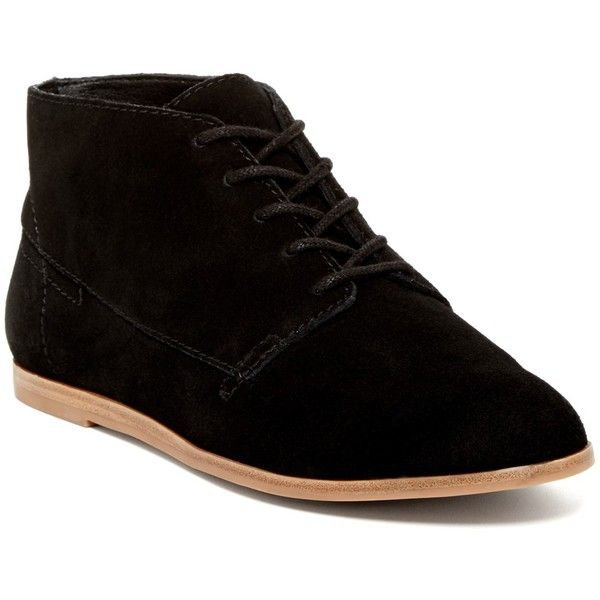 Dolce Vita Aldridge Genuine Calf Hair Chukka Bootie (99 CAD) ❤ liked on Polyvore featuring shoes, boots, ankle booties, black suede, leopard boots, black laced booties, leopard lace up booties, dolce vita boots and lace-up ankle booties