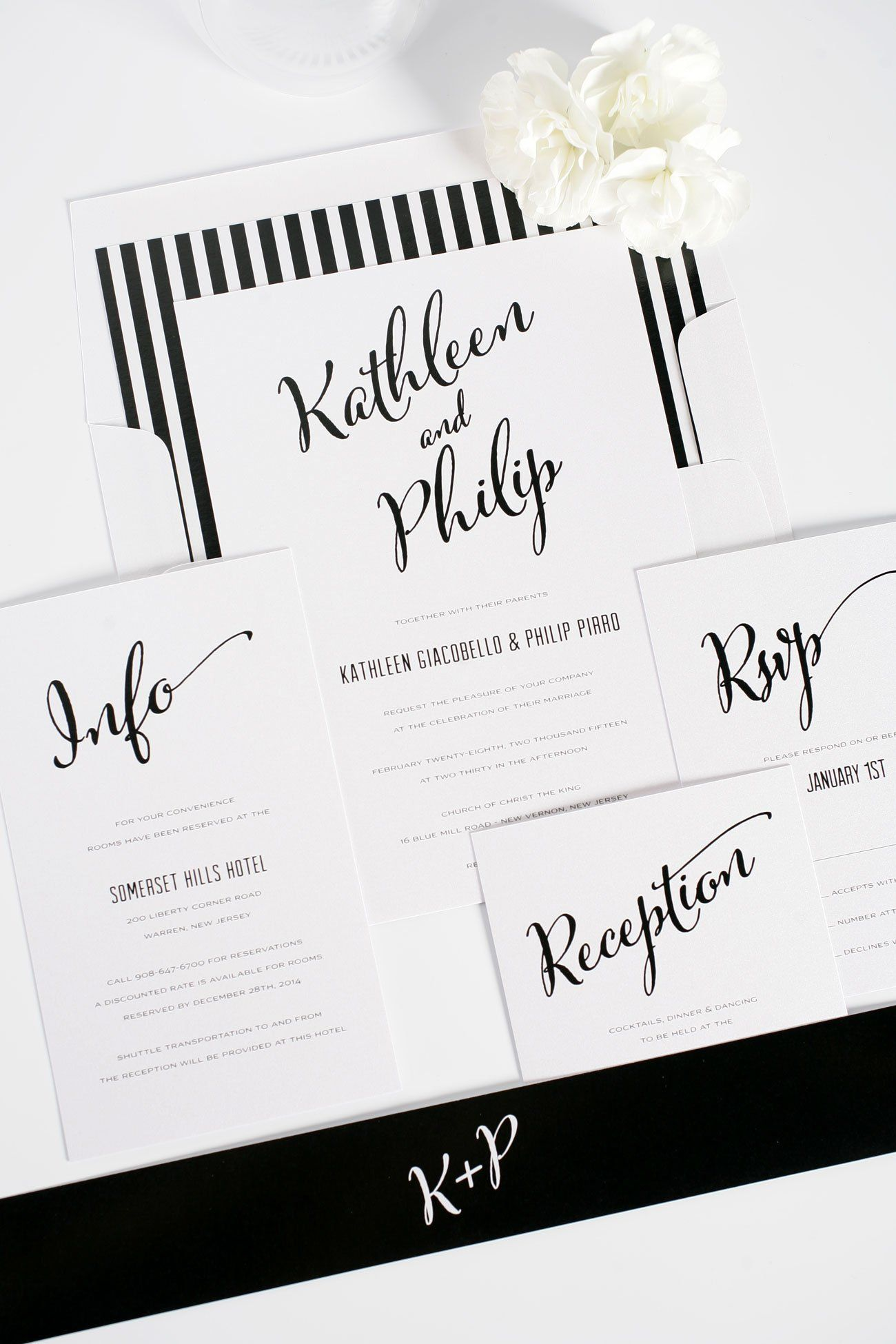 Wedding decorations and ideas december 2018 Modern Script Wedding Invitations in   One day  Pinterest