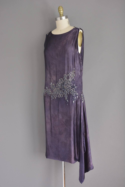 20s soft silk rhinestone beaded vintage flapper dress.   vintage ...