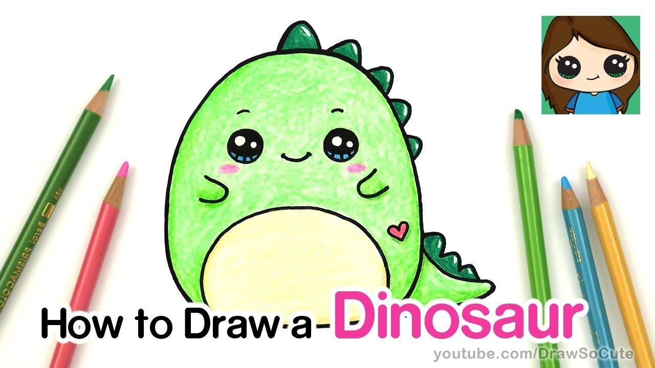 How To Draw A Baby Dinosaur Easy Squishmallow Cute Drawings Kawaii Dinosaur Cute Animal Drawings