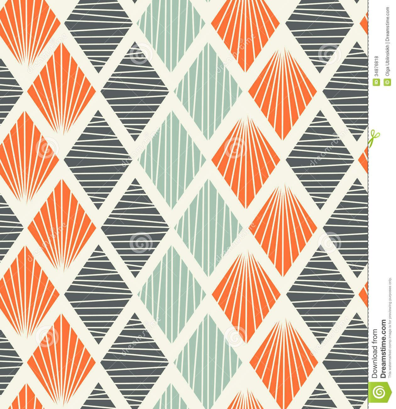 Seamless Geometric Pattern With Rhombs Decorative Background - Download  From Over 45 Million High Quality Stock