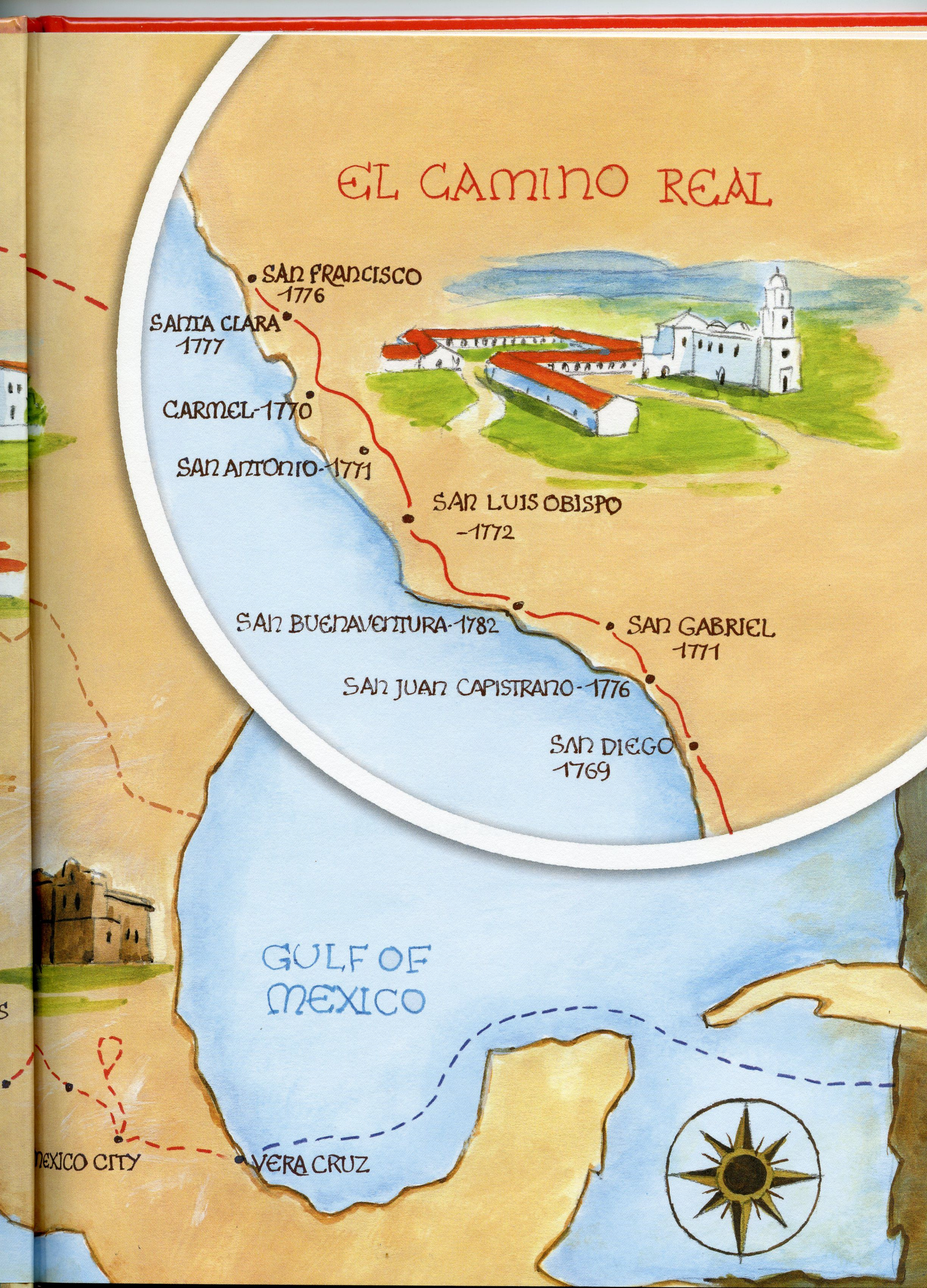 The Route That St Junipero Serra Took From The Spanish Island Of Majorca By Ship To Vera Cruz