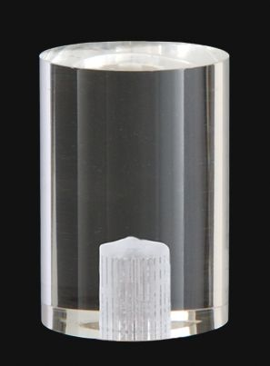 Large Clear Acrylic Cylinder Finial 11328 | Antique Lamp Supply