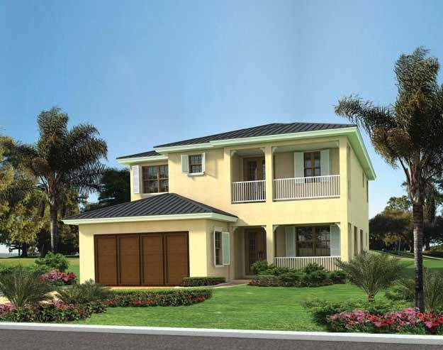 This beautiful two story waterfront classic mediterranean for Two story mediterranean house plans