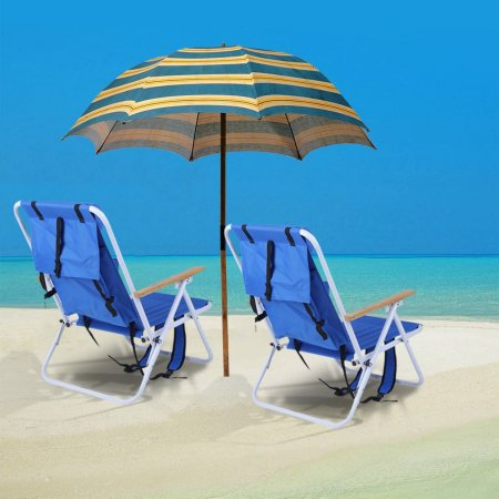Backpack Beach Chair With Cup Holder