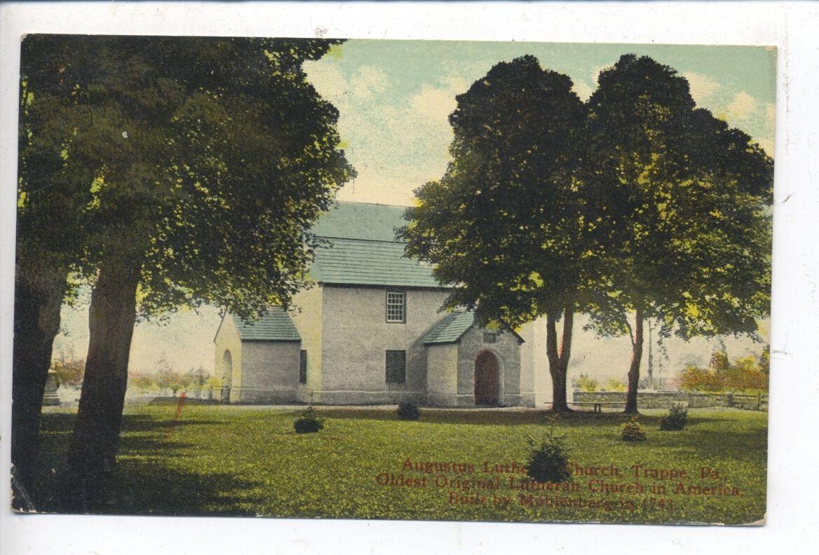 Trappe Pennsylvania Oldest Lutheran Church in U s Antique Vintage Postcard PA   eBay