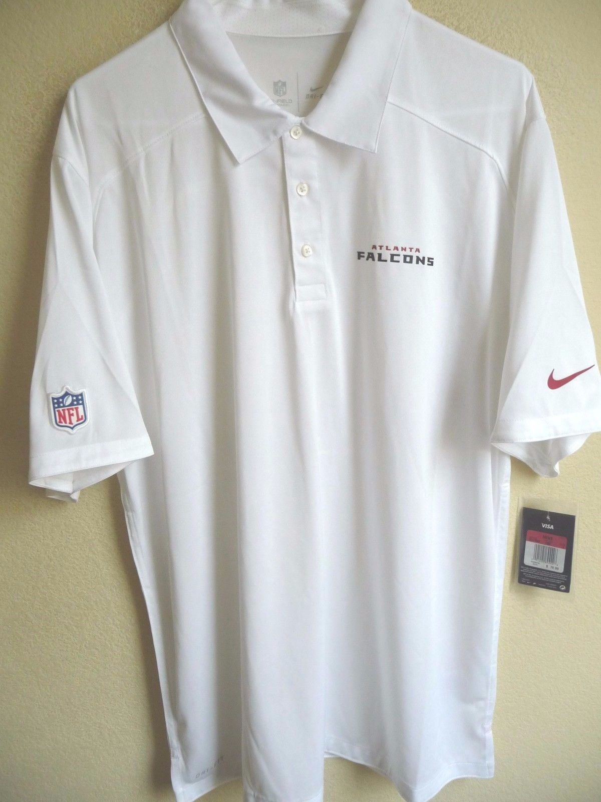 NFL Nike DRI-FIT Atlanta Falcons Football Polo Shirt L NEW  24a943ad7