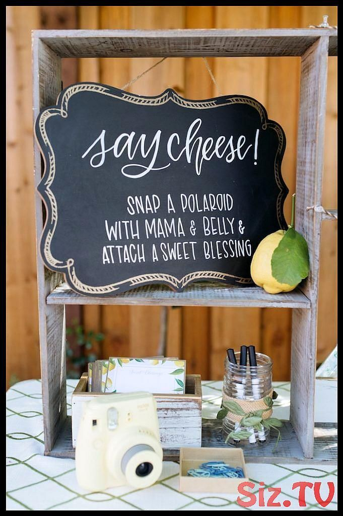 Say Cheese Chalkboard Party Beschilderung einer rustikalen Zitrone unter dem Mot...#beschilderung