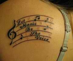 Let music be the voice tattoo