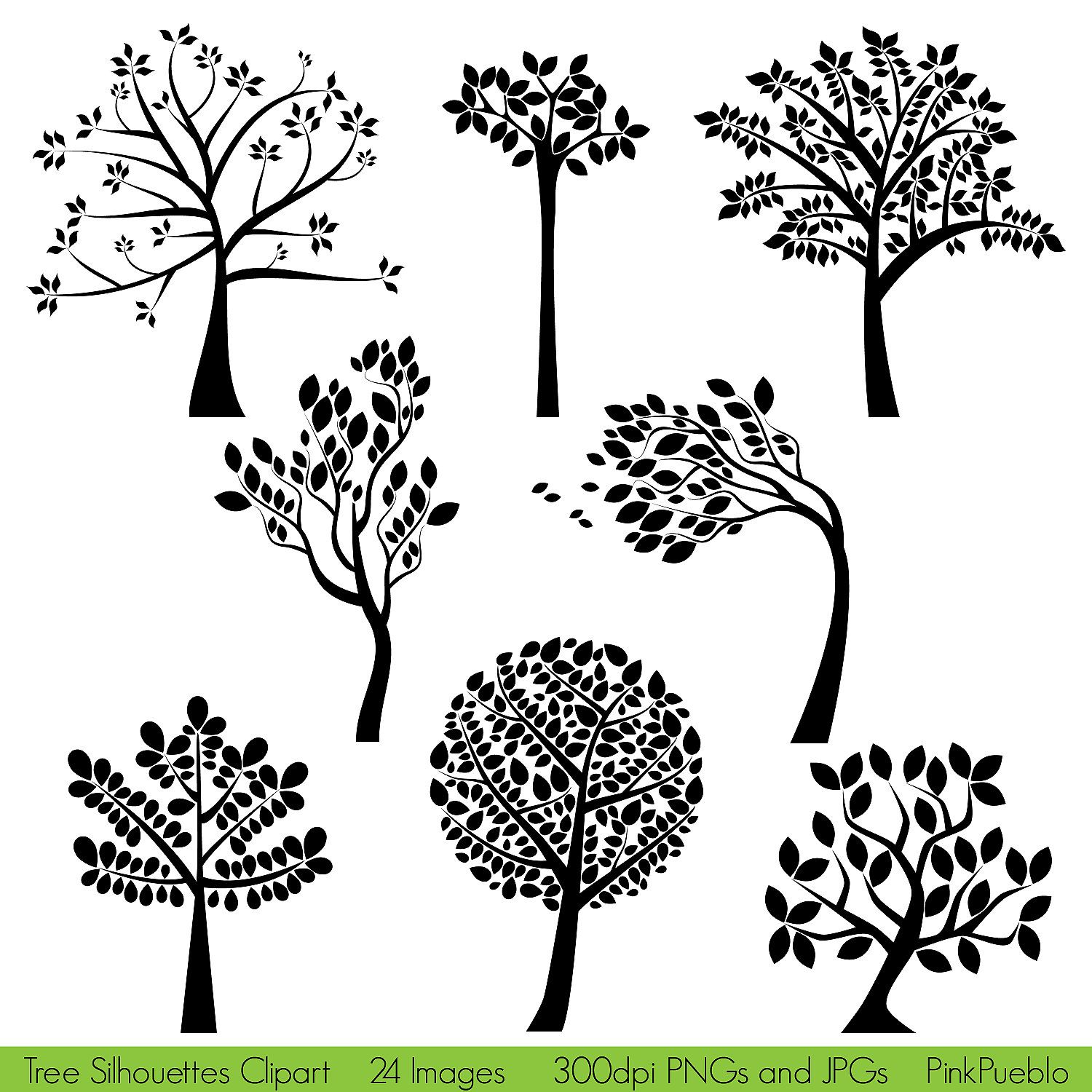 Tree Silhouettes Clipart Clip Art, Family Tree Clipart Clip Art ...