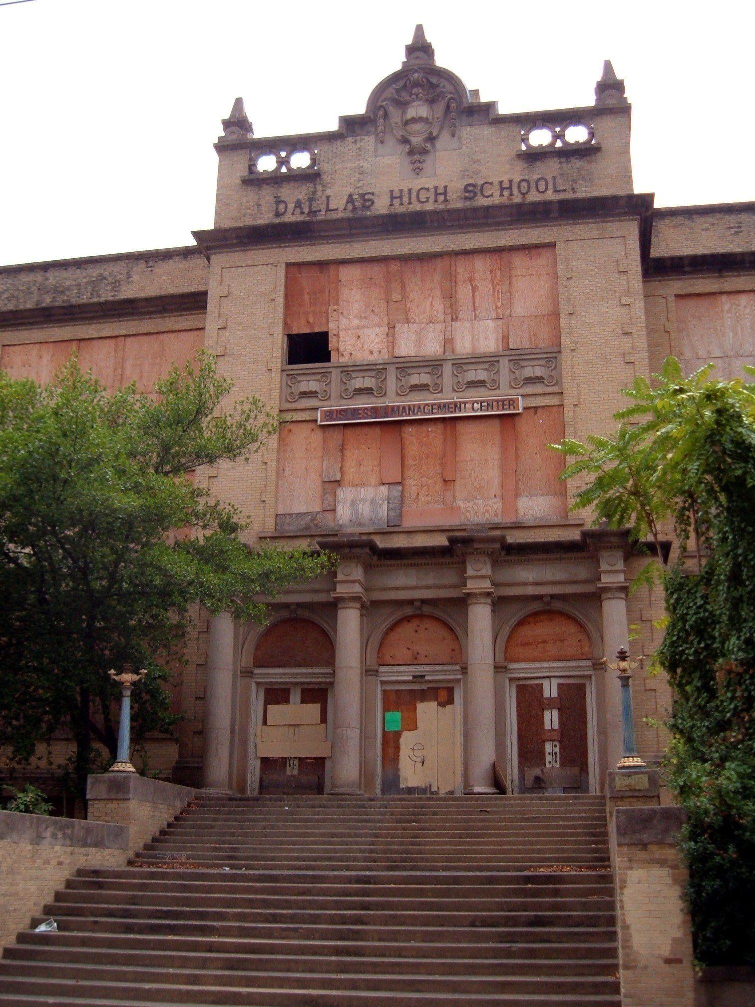 historic dallas texas buildings abandoned dallas high