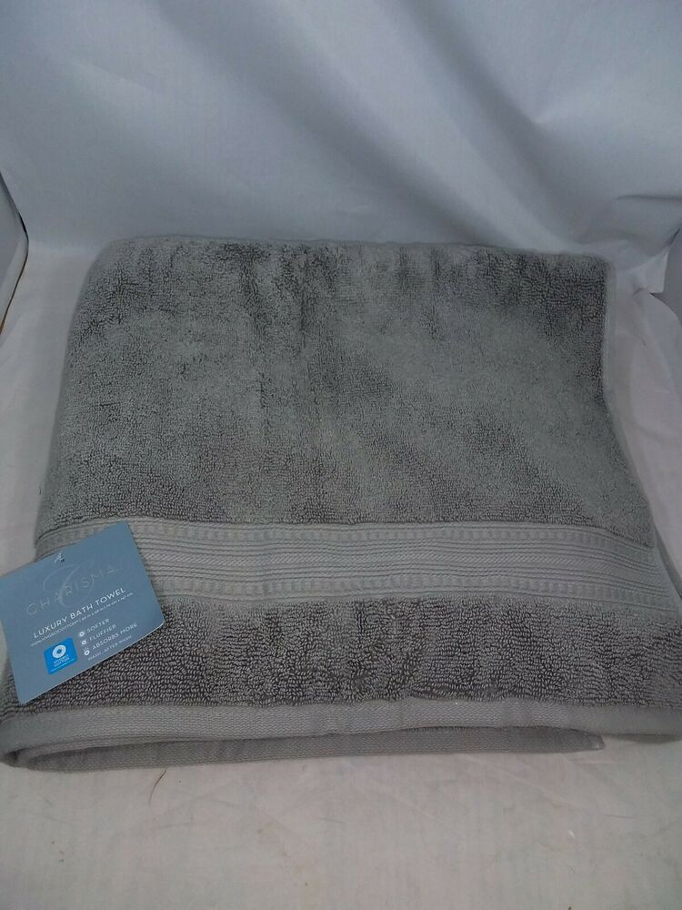 Charisma Luxury Bath Towel 100 Hygrocotton 30 In X 58 In Alloy