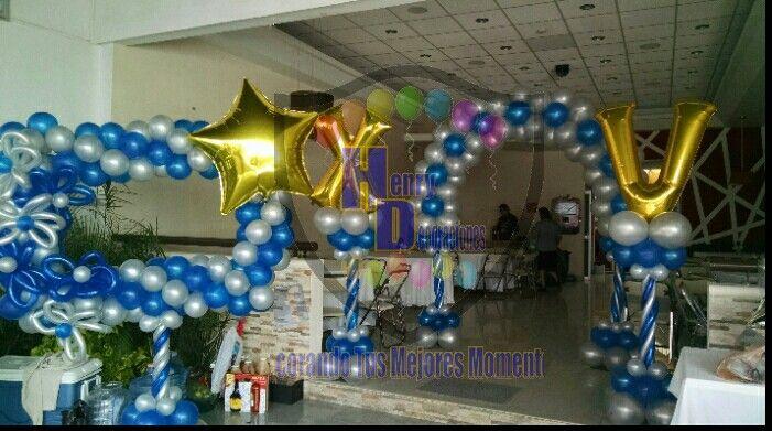Decoraci n con globos xv a os henry decoraciones boda xv for Lo nuevo en decoracion