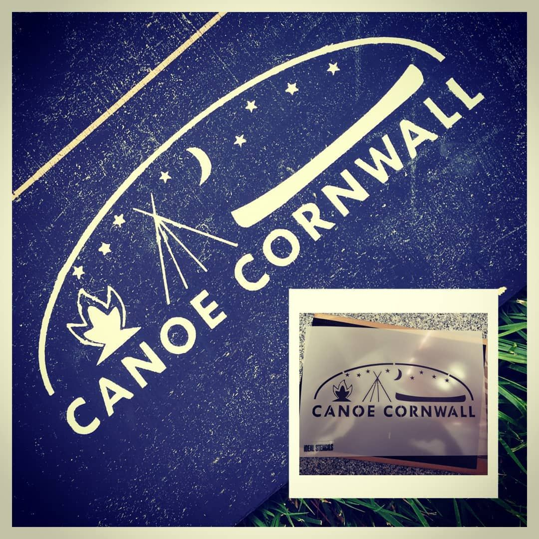 Custom Stencil for Canoe Cornwall for painting their logo