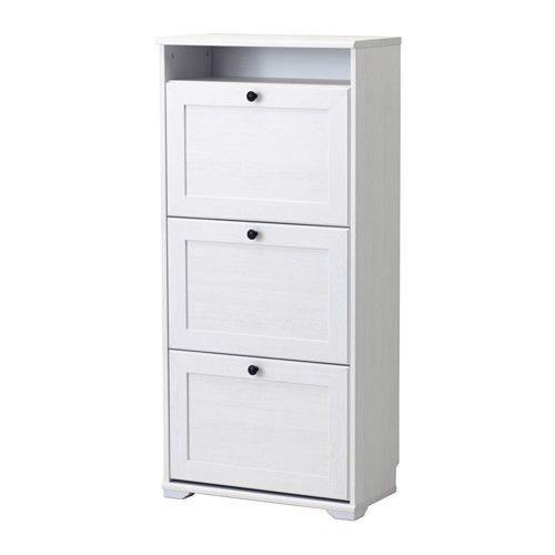 brusali sapateira c 3 compartimentos branco sapateiras ikea e coisas de casa. Black Bedroom Furniture Sets. Home Design Ideas