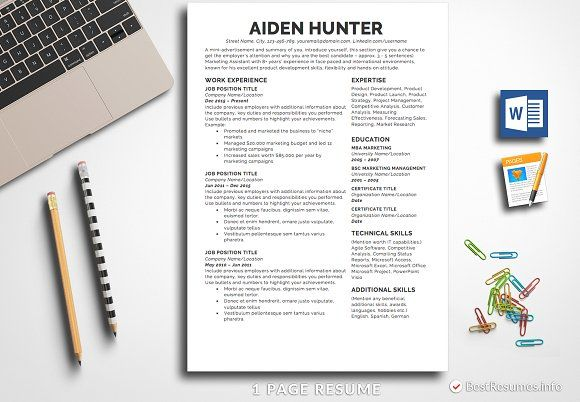 Simple Resume Template Pages  Word Simple resume template, Simple - resume template for pages