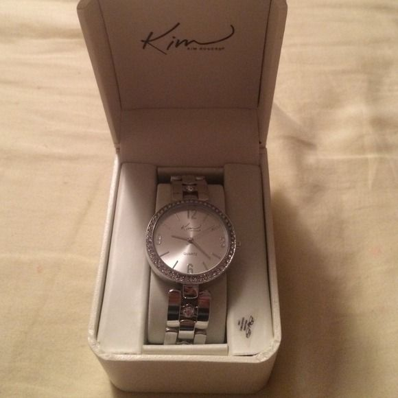 Silver Kim Rogers Watch Very nice watch, This watch is new with price still printed on the back of the box. Never been worn and never been taken out of the box ! Kim Rogers Jewelry