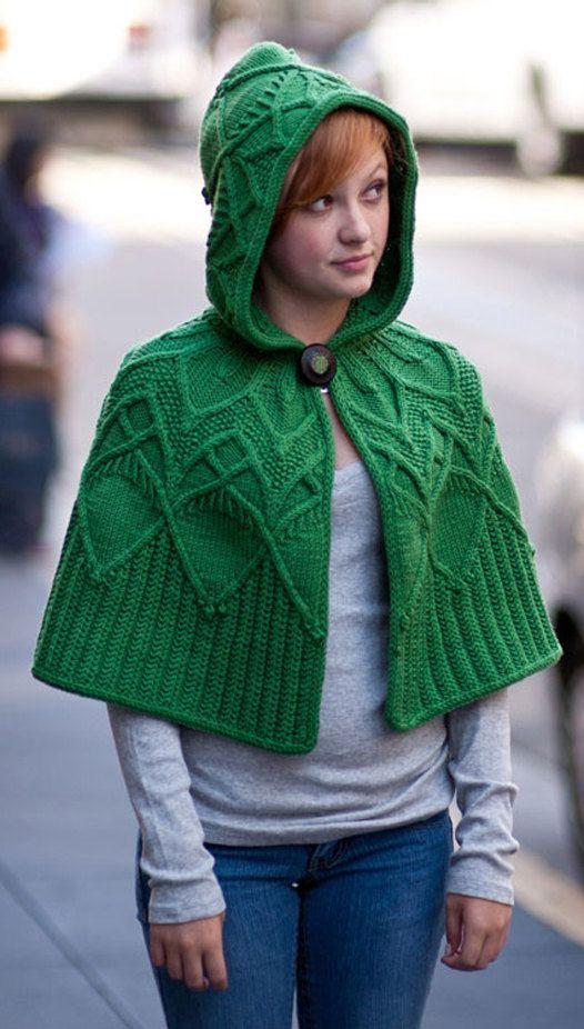 Womens knitted capelet poncho boho cape palantine cloak shawl ...