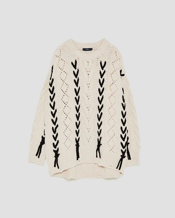 Imagen 8 de JERSEY PUNTO CORDONES de Zara | Clothes | Pinterest ...