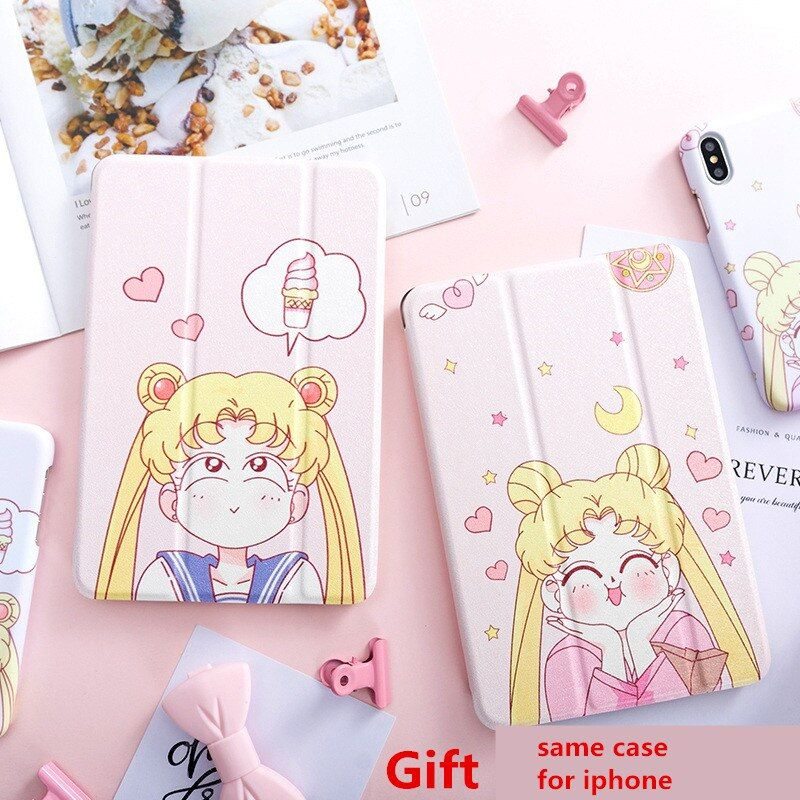 Beauty Girl Magnet Flip Cover For Ipad Pro 9.7