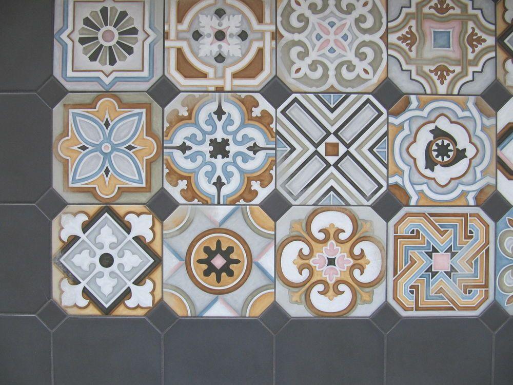 Dekor Bodenfliesen 20x20cm Mosaik Bunt Muster Fliesen Für Wand U0026 Boden  Castelo