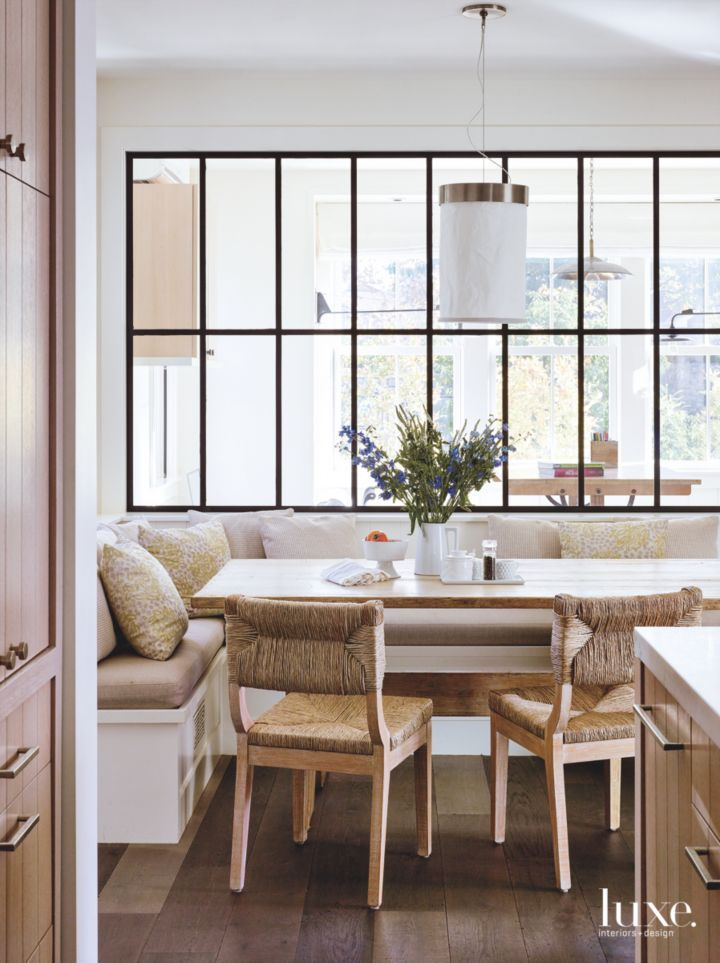 Classic Appeal In San Francisco Luxe Interiors Design Dining Nook Dining Room Design Modern Farmhouse Dining