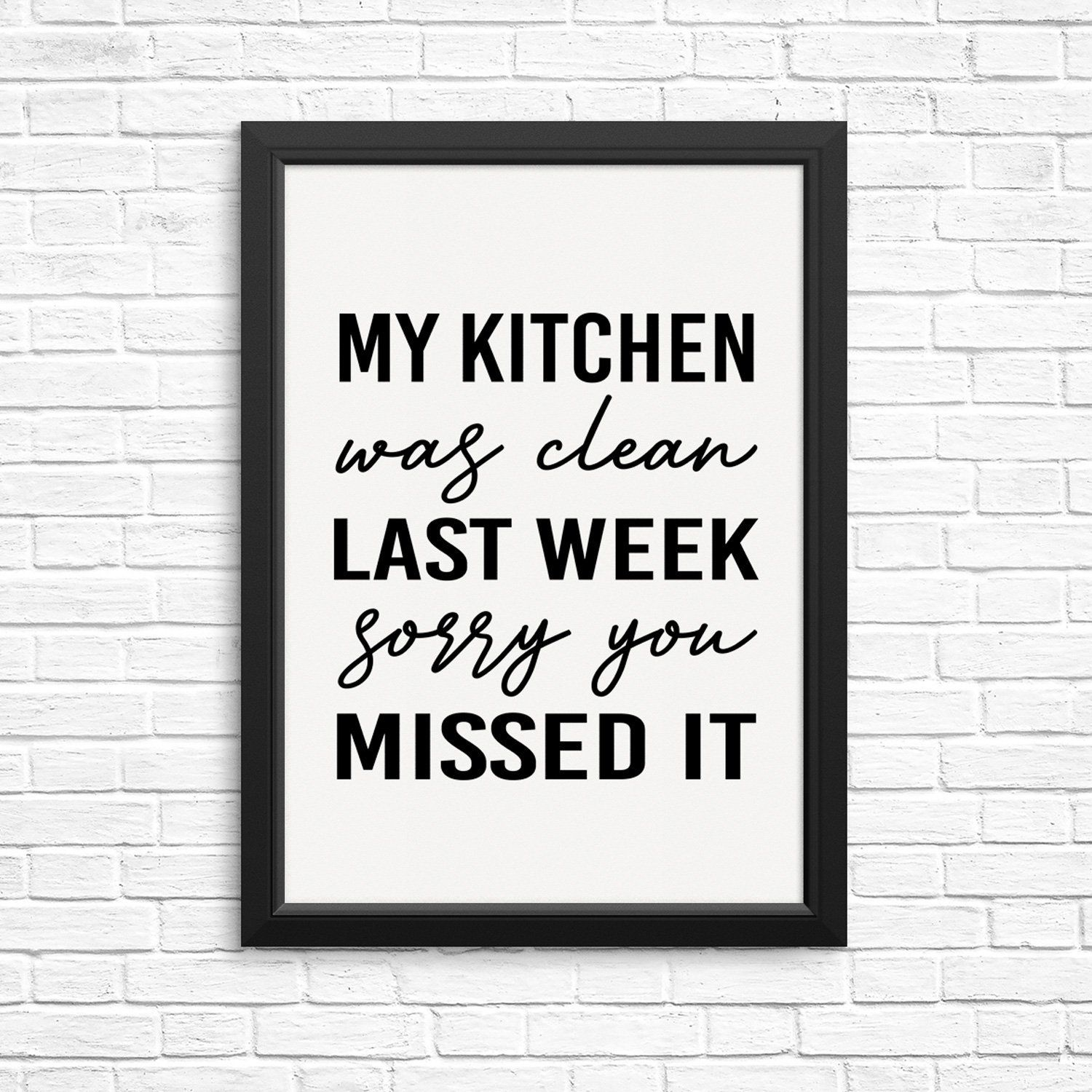 funny kitchen quote wall decor art print poster my on poster my wall id=37212