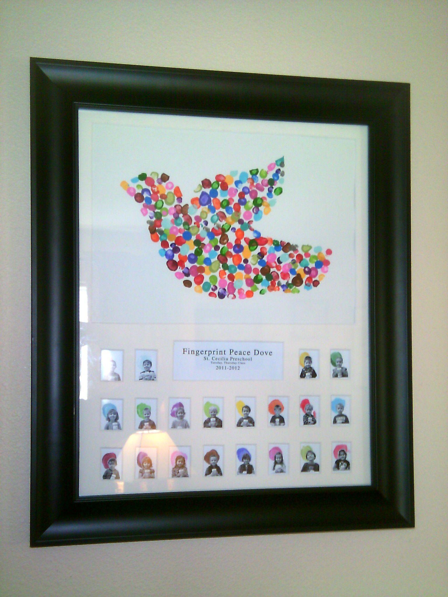 Fingerprint Dove Of Peace  Craft Ideas  Class Auction