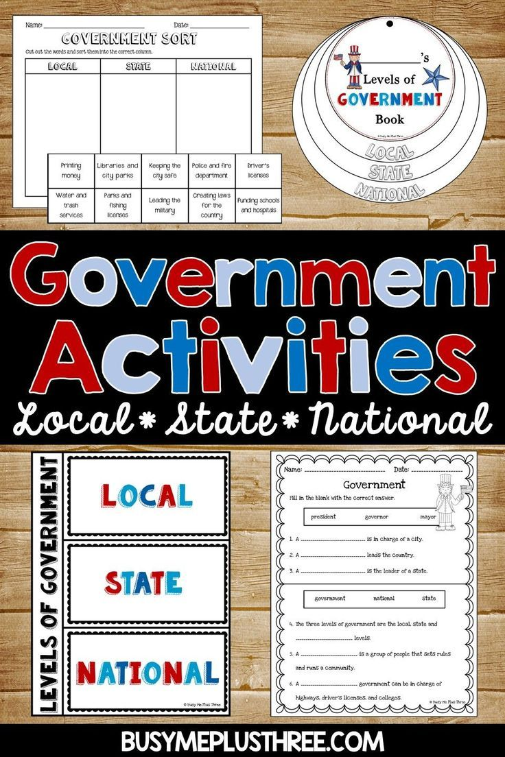 Are you looking for government activities for kids? This set is perfect to teach your students about local, state, and national government. Click to purchase for your 2nd or 3rd grade students! #government #2ndgrade #3rdgrade #socialstudies