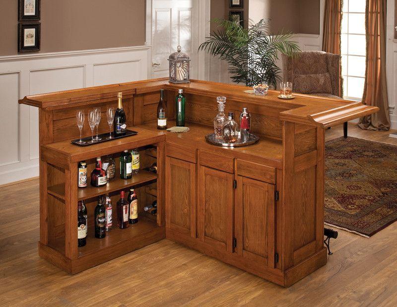 Hillsdale Classic Oak Side Home Bar 62576AXOAK Bar, Basements and