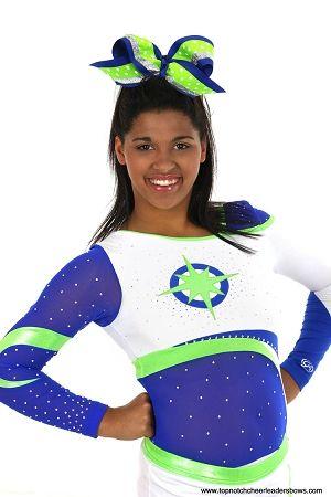 Bulk Blue Green Cheer Bow Sparkly Royal Lime Big Wholesale Football Spirit Bows Dance