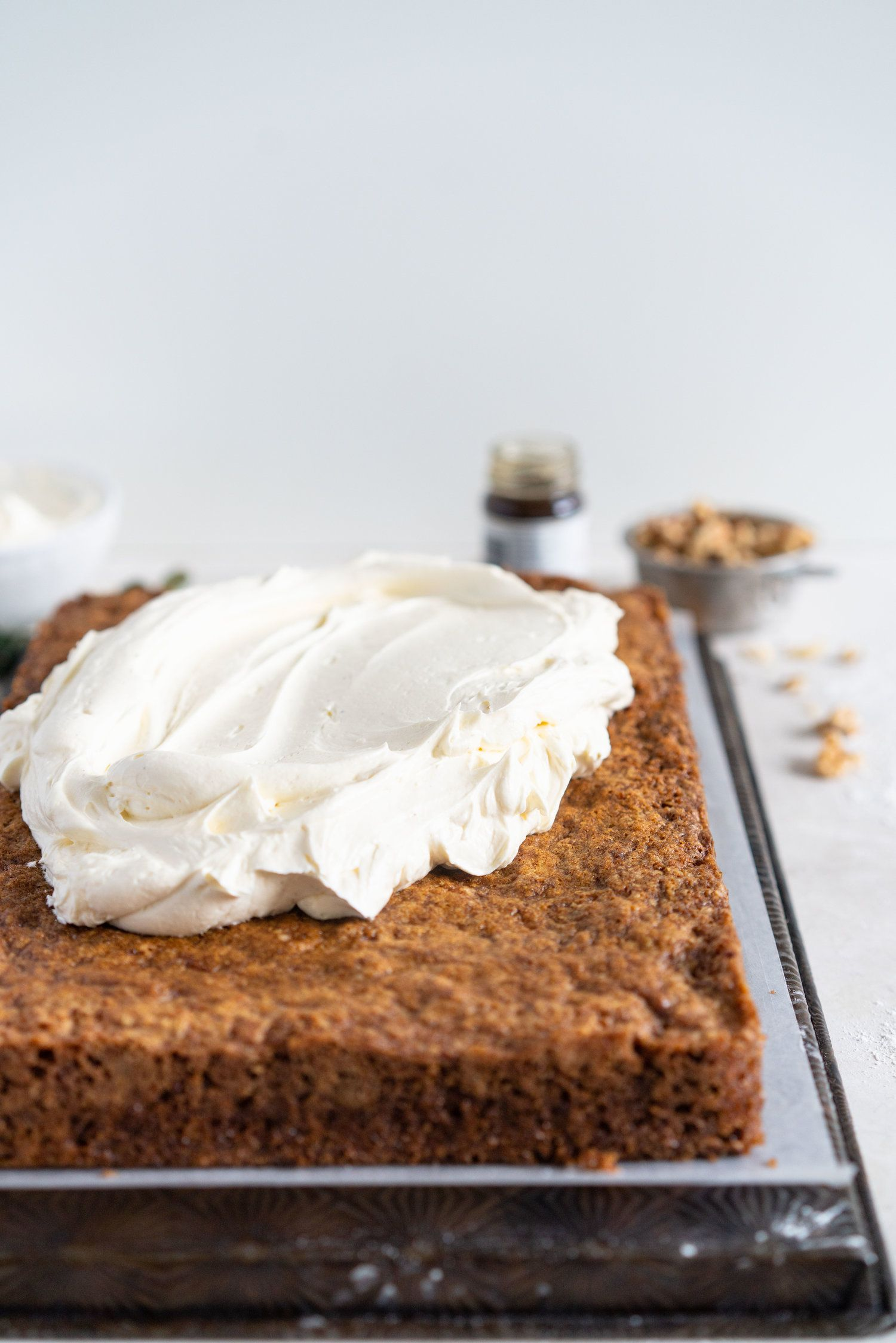 Carrot Sheet Cake with Browned Butter