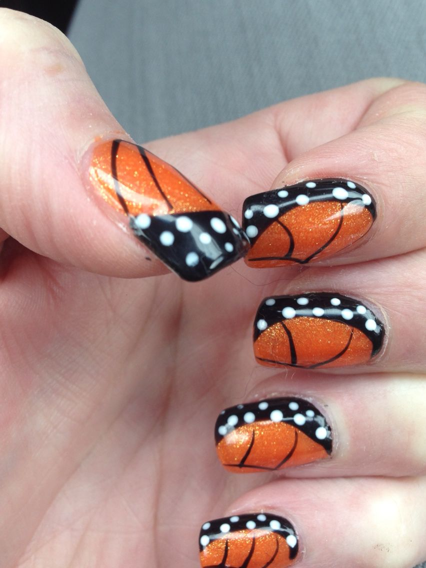 Monarch Butterfly Nail Art Cute Nail Colors Sparkly Nails Wow Nails