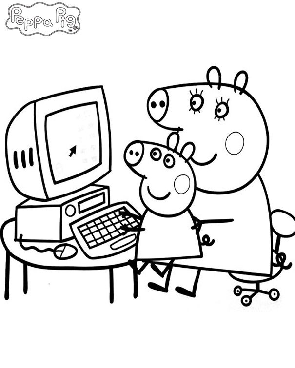 Peppa Pig Coloring Pages and Sheets http://procoloring.com/peppa-pig ...