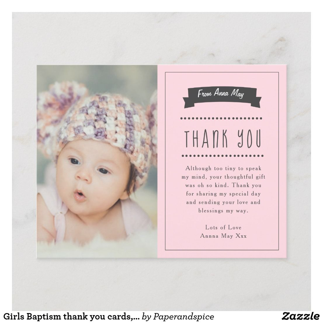 Boy Gold Thank You Cards Christening Thanks Party Baby Gifts Girl