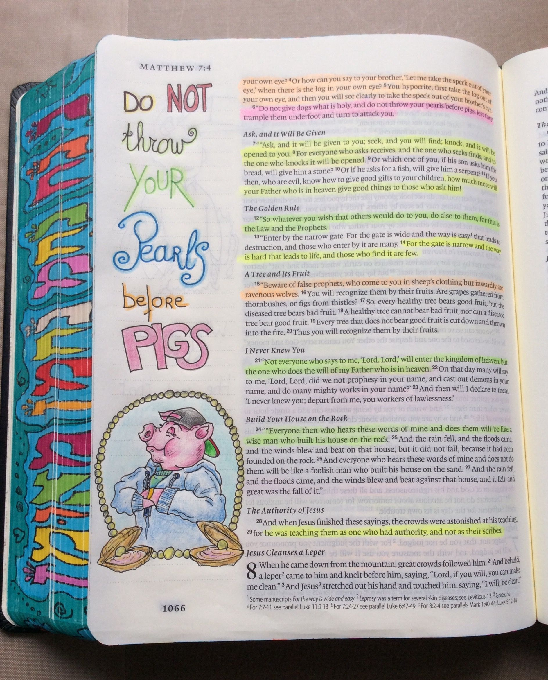 Matthew 7 6 Esv Single Column Journaling Bible Micron Pens And
